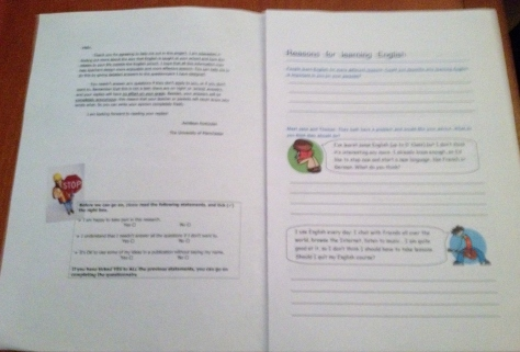 Questionnaire booklet