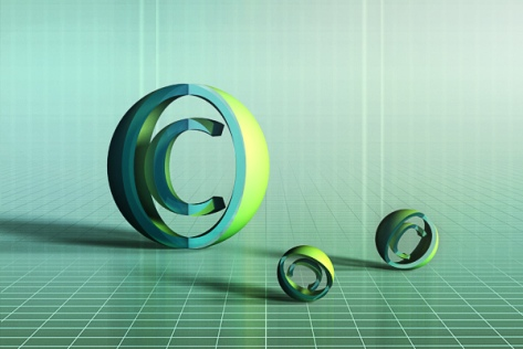 Copyright Sign 3d Render