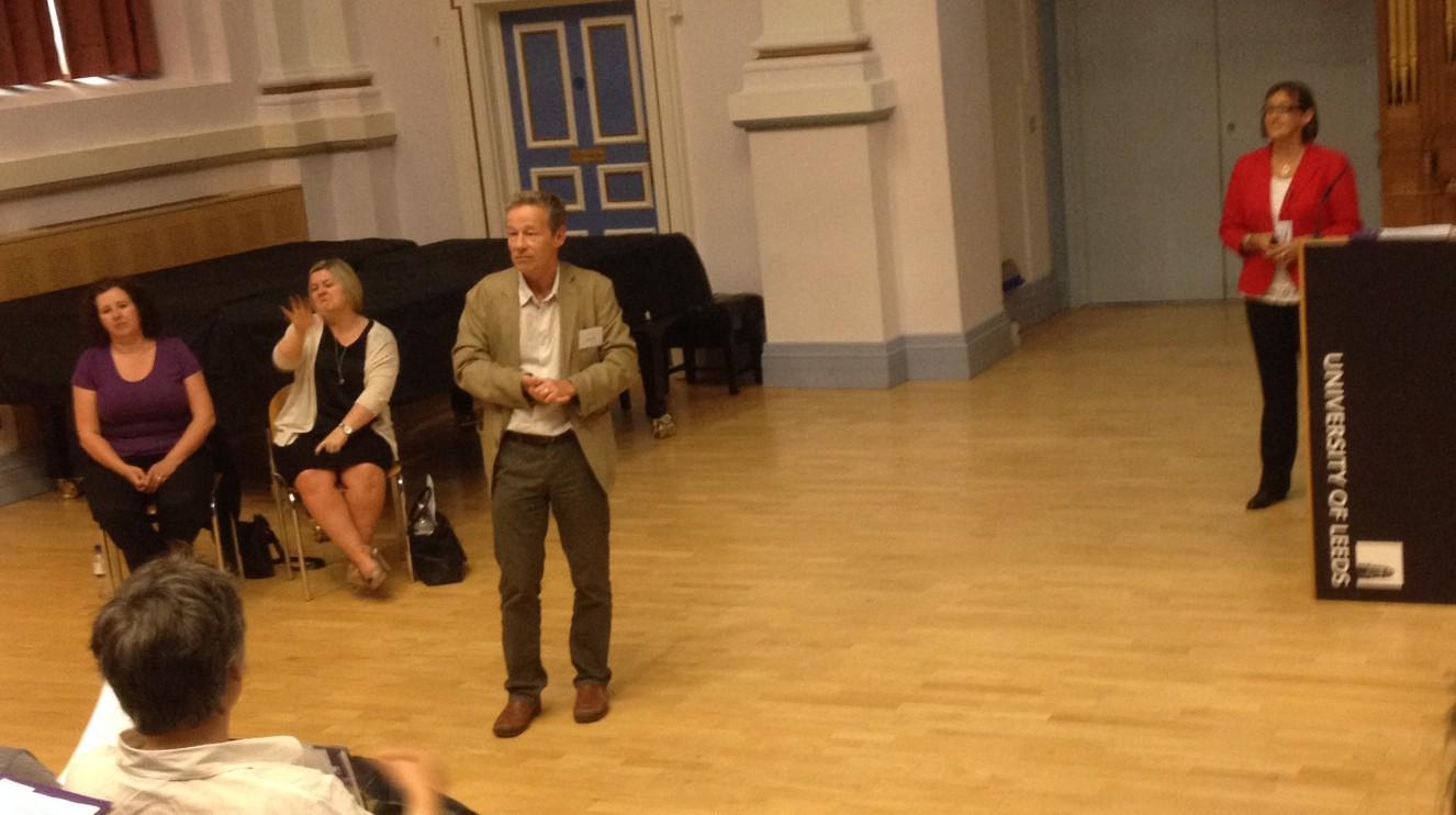 Martin Lamb introducing the keynote talk at the BAAL LLT annual meeting