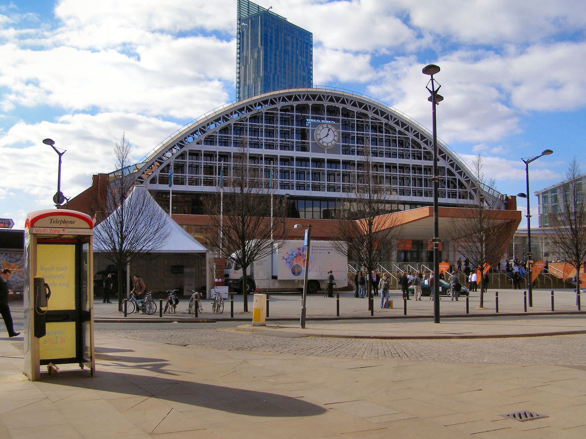 Manchester Central (G-Mex) Front view of the former Manchester Central Station (now an exhibition complex). Viewed from Windmill Street.
