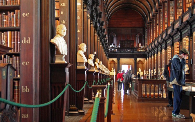 The Long Room at the library of Trinity College Dublin